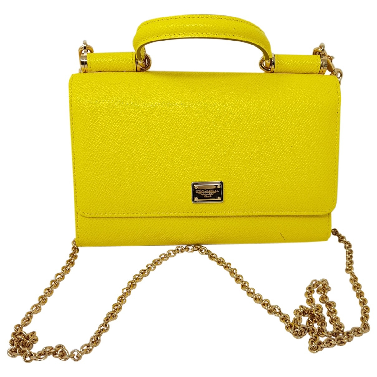 Dolce & Gabbana \N Yellow Leather wallet for Women \N