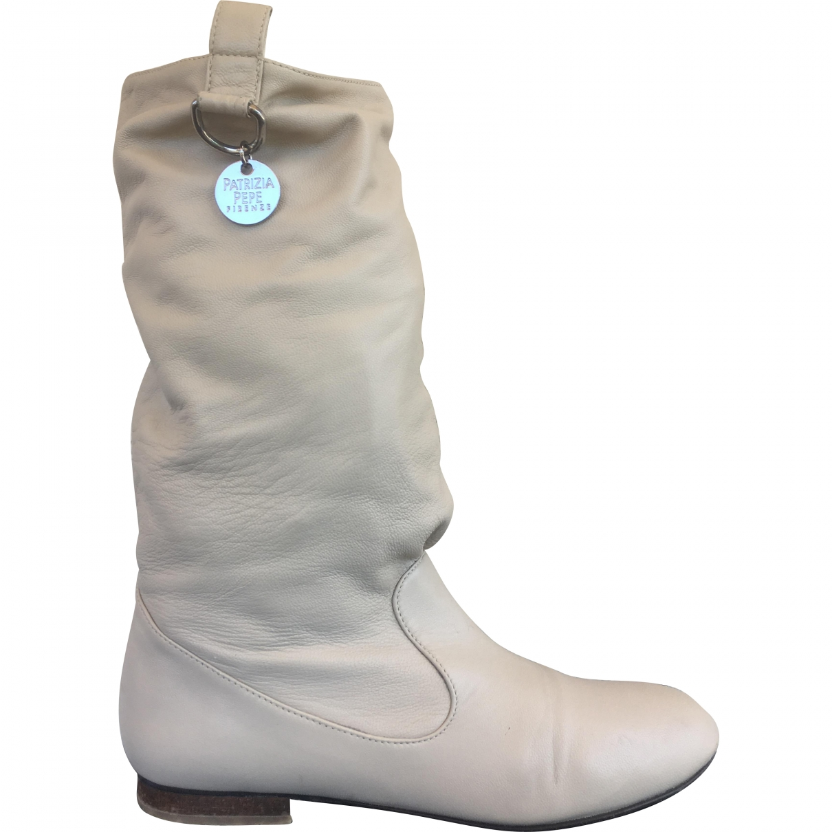 Patrizia Pepe \N Stiefel in  Beige Leder