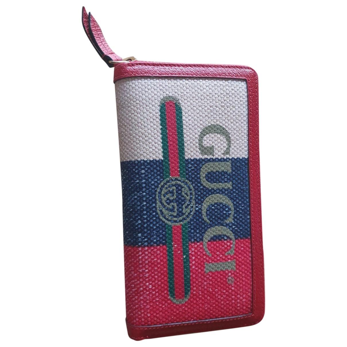 Gucci - Portefeuille   pour femme en toile - multicolore