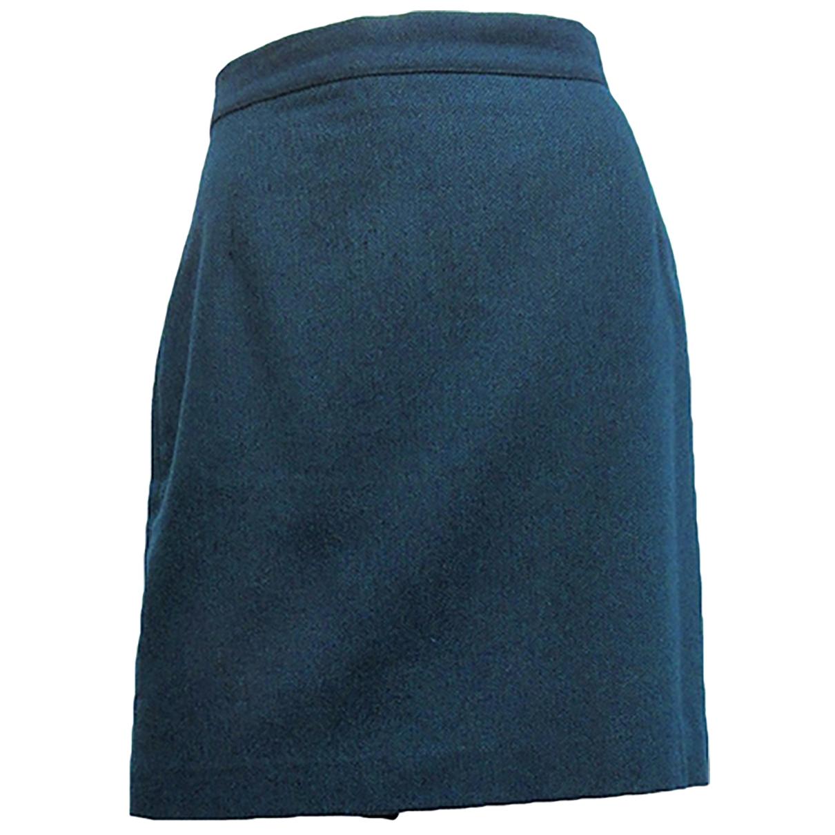 - Jupe   pour femme en laine - bleu