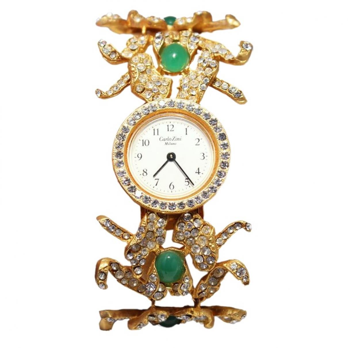 Carlo Zini \N Uhr in  Gold Vergoldet