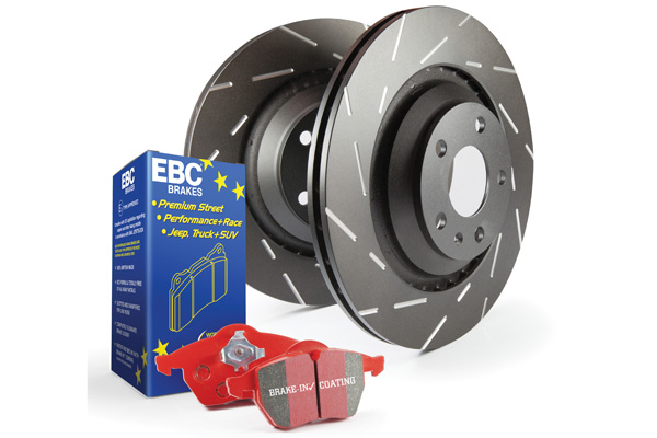 EBC Brakes S4KR1138 S4KR Kit Number REAR Disc Brake Pad and Rotor Kit DP31672C+USR7213 Rear