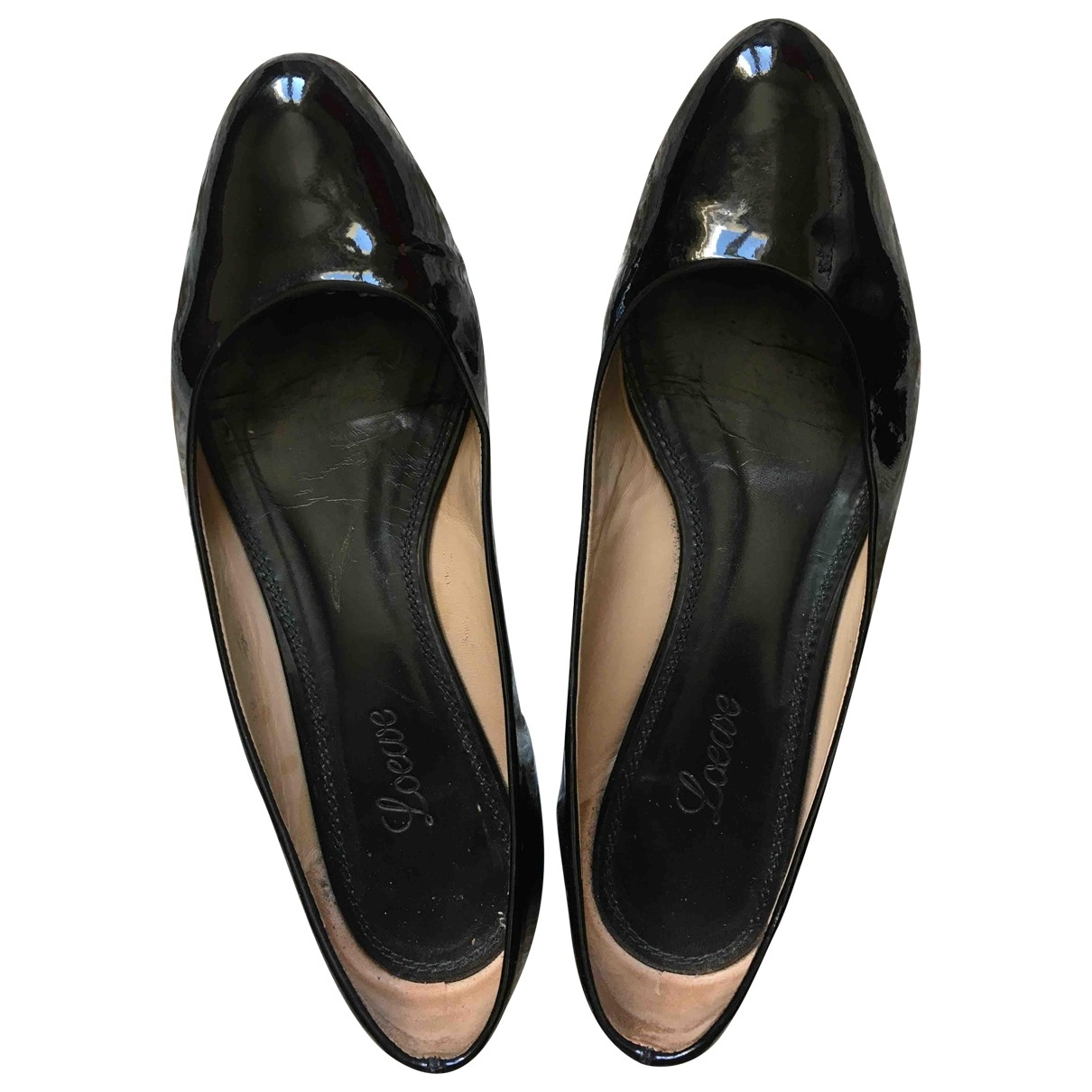 Loewe - Ballerines   pour femme en cuir verni - noir