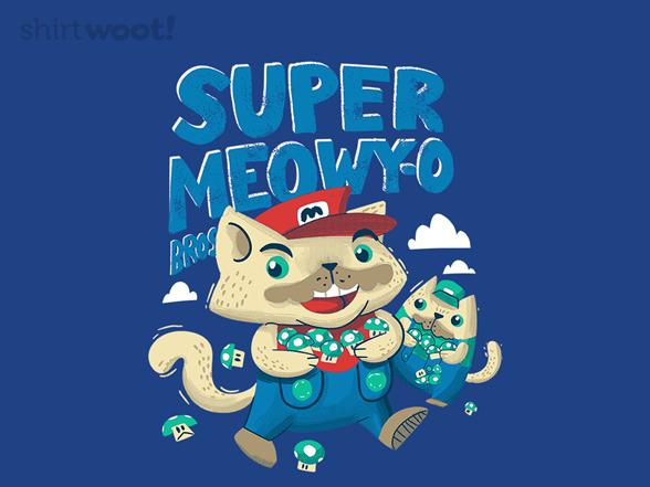 Super Meowy-o Bros T Shirt