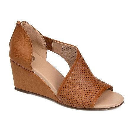 Journee Collection Womens Aretha Pumps Wedge Heel, 12 Medium, Brown