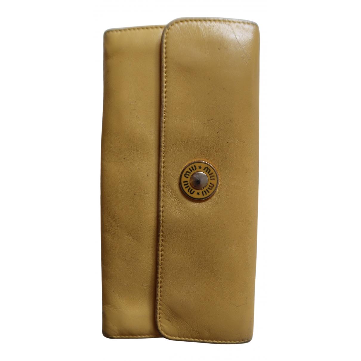 Miu Miu N Yellow Leather wallet for Women N
