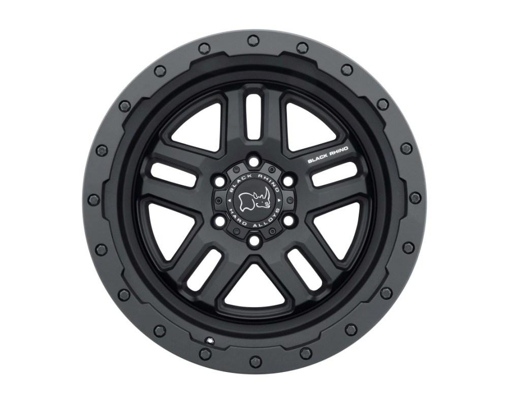 Black Rhino Barstow Textured Matte Black Wheel 18x8 5x114.30|5x4.5 30mm CB76.1