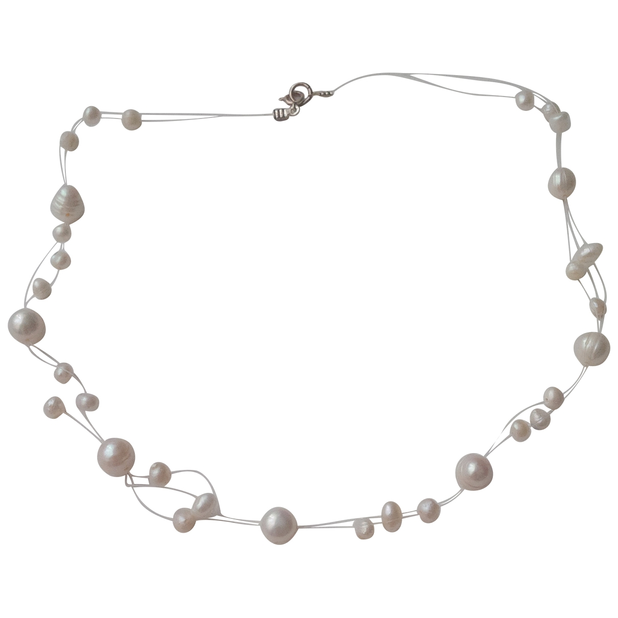 Non Signé / Unsigned Nacre Ecru Metal necklace for Women \N