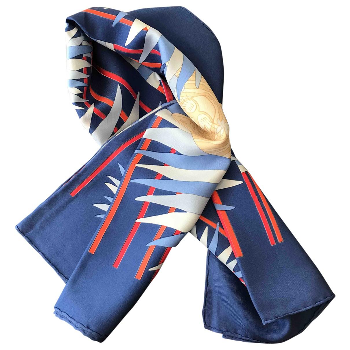 Hermès \N Blue Silk Silk handkerchief for Women \N