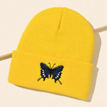 Butterfly Embroidery Beanie