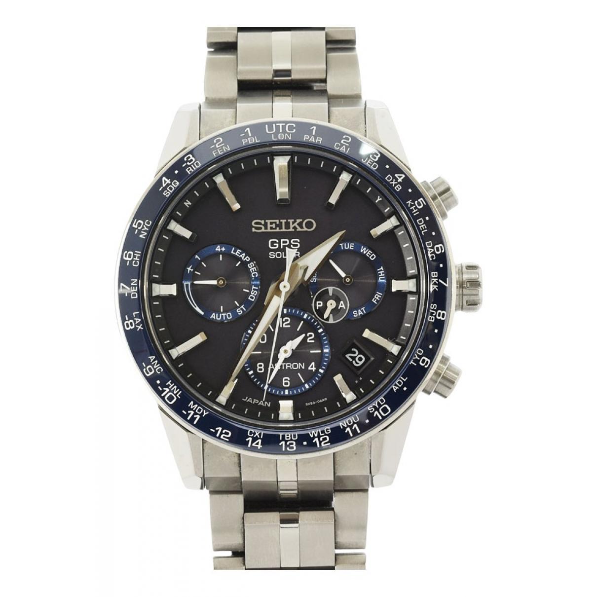 Seiko \N Black Titanium watch for Men \N