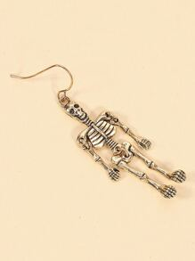 Metal Skeleton Drop Earrings