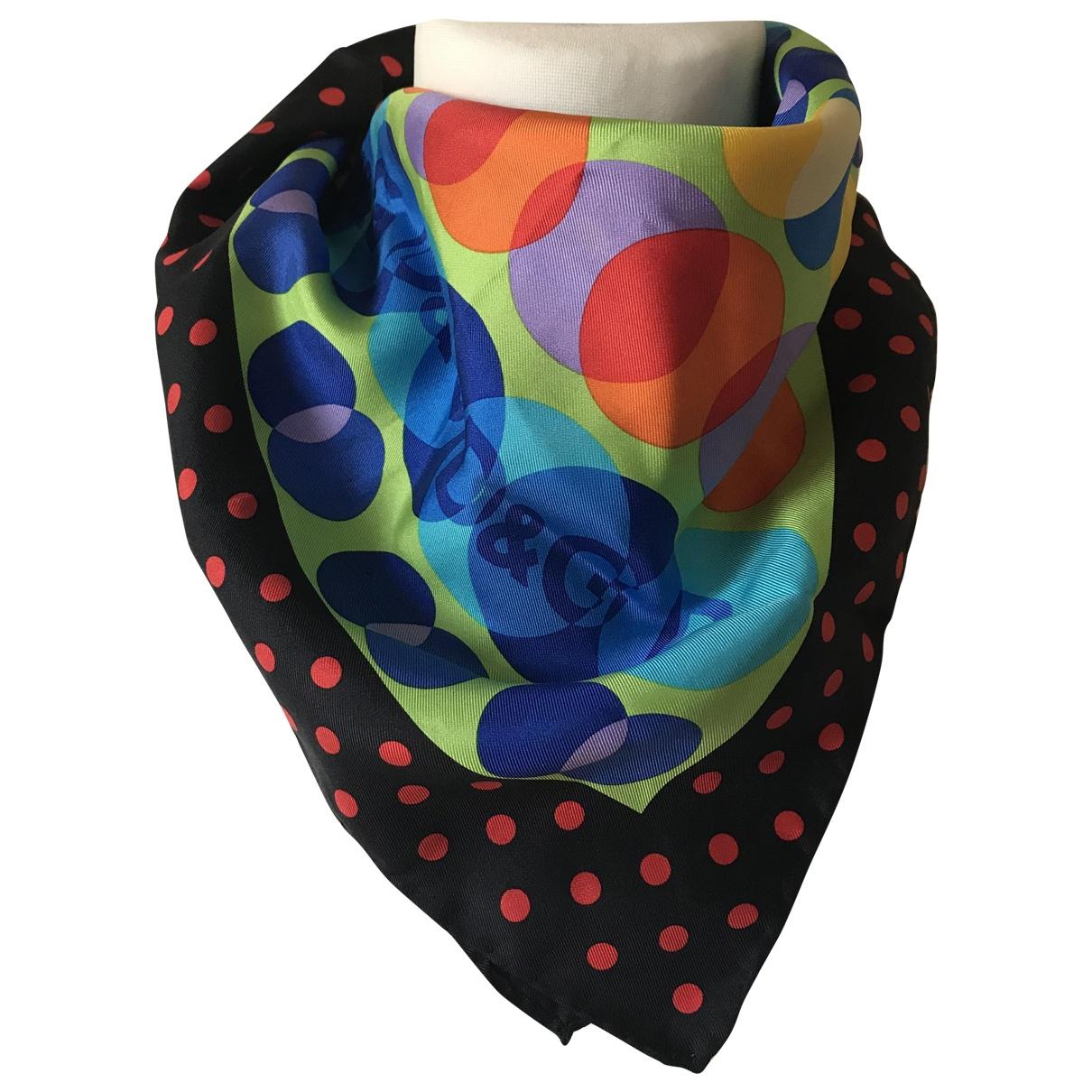 D&g - Foulard   pour femme en soie - multicolore