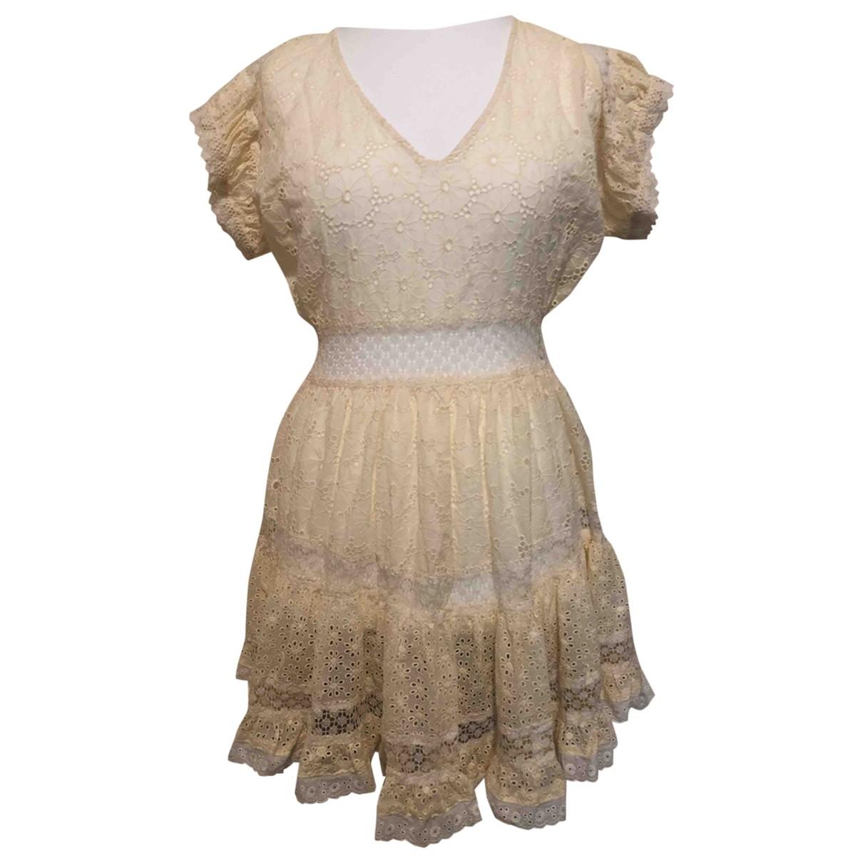 - Robe   pour femme en coton - ecru