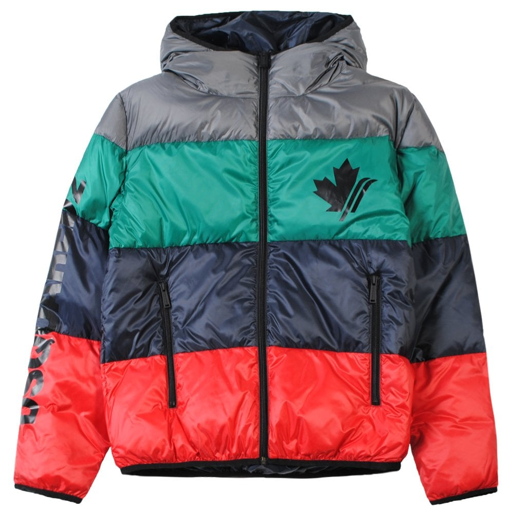 DSquared2 Kids Maple Leaf Jacket Colour: MULTI COLOURED, Size: 12 YEAR
