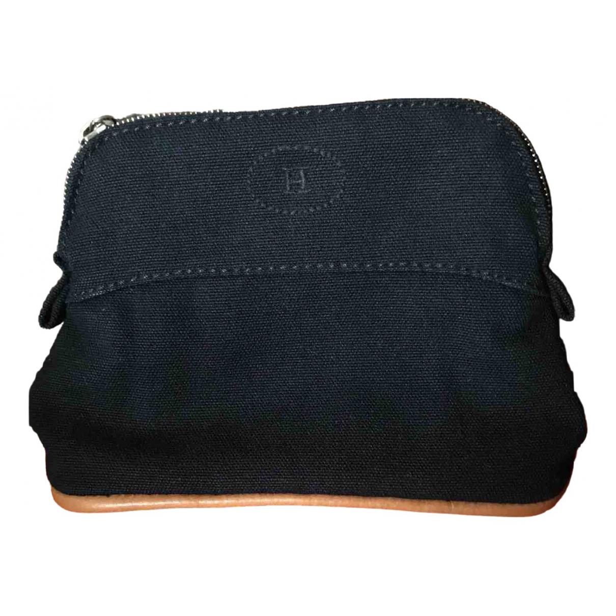Hermès Bolide Navy Cloth Travel bag for Women \N