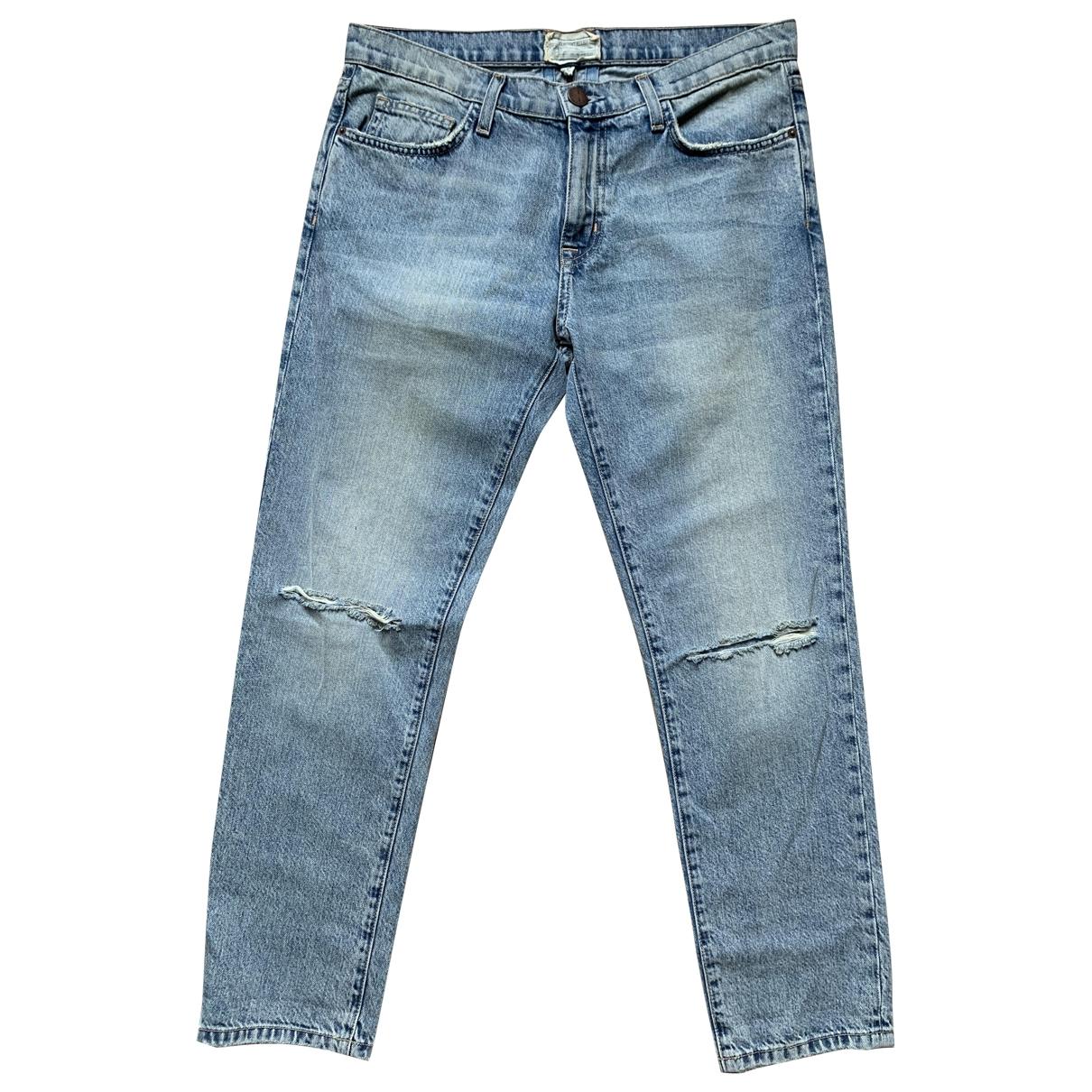 Current Elliott \N Blue Cotton Jeans for Women 28 US