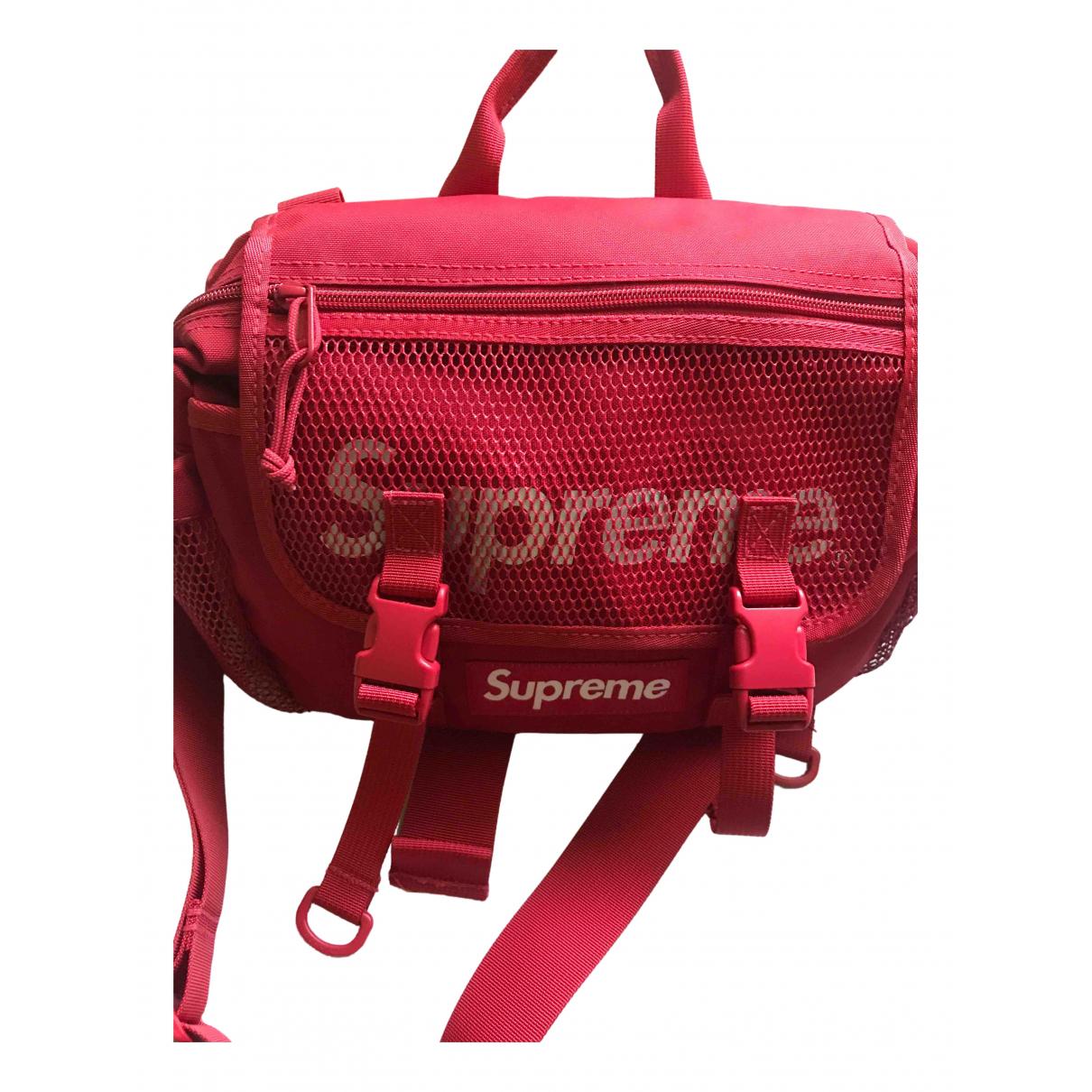 Supreme \N Red Cloth Clutch bag for Women \N