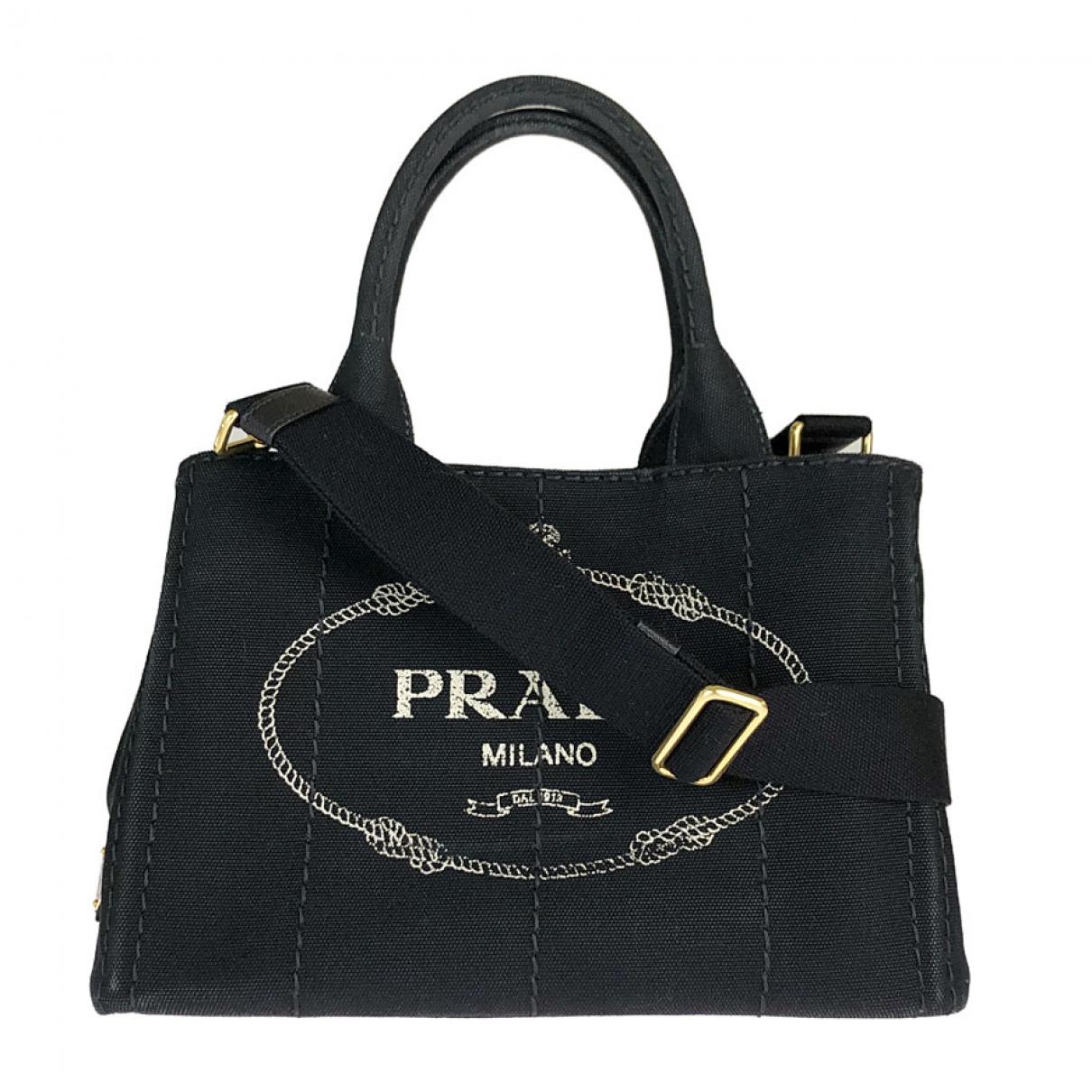 Prada - Sac a main   pour femme en toile - noir