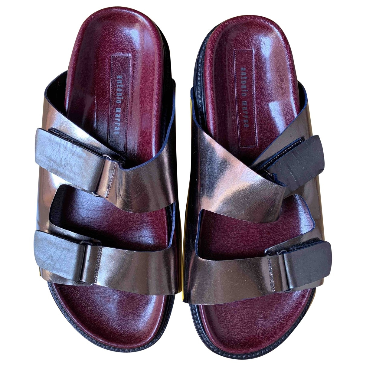 Antonio Marras \N Silver Leather Sandals for Men 41 EU