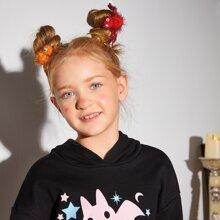 3 Stuecke Kleinkind Maedchen Haarspangen mit Halloween Spinne Dekor