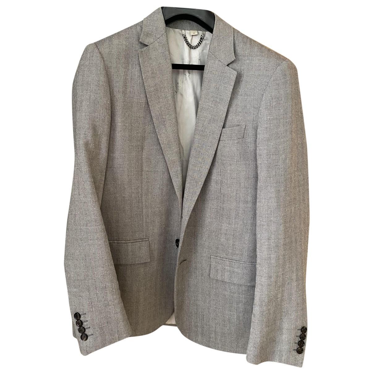 Burberry - Costumes   pour homme en laine - gris