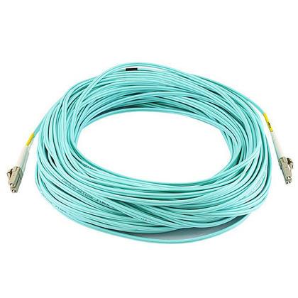Câble fibre optique 10Gb, OM3 LC/LC, multi mode, duplex (type 50/125) - aqua - Monoprice® - 35m