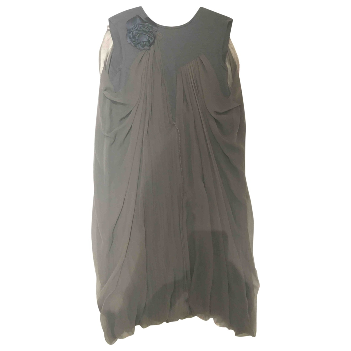 Lanvin \N Grey Silk dress for Women 36 FR