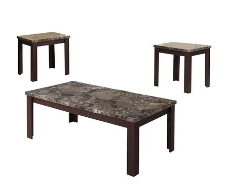 BM154548 Carly Coffee/End Table Set  Cherry Brown  Pack of 3