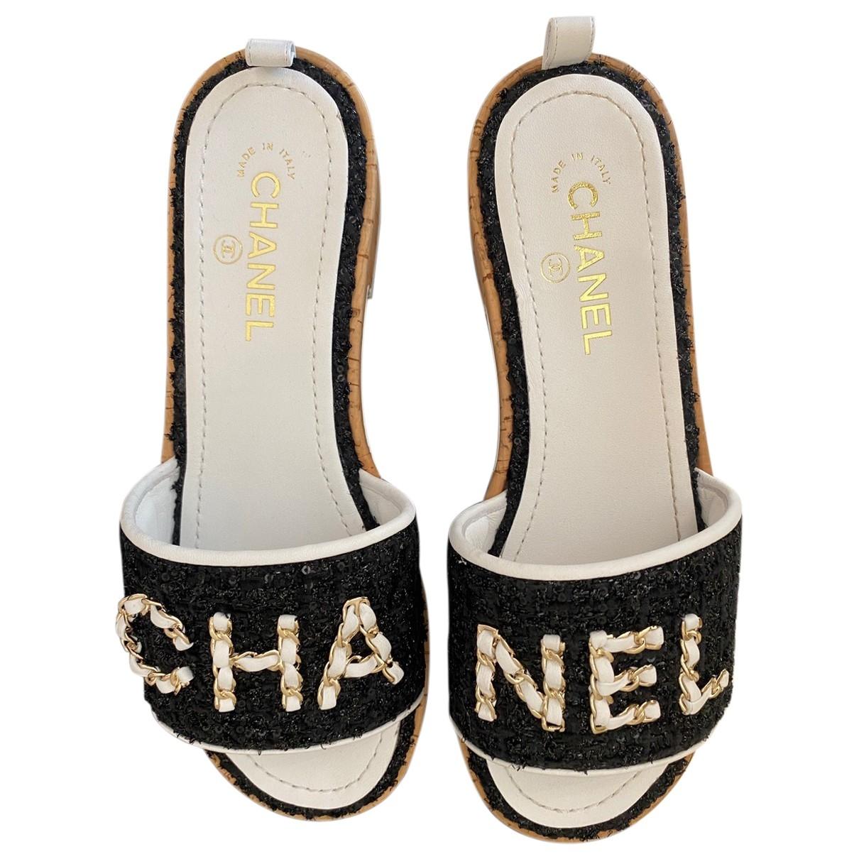 Zuecos Tweed Chanel