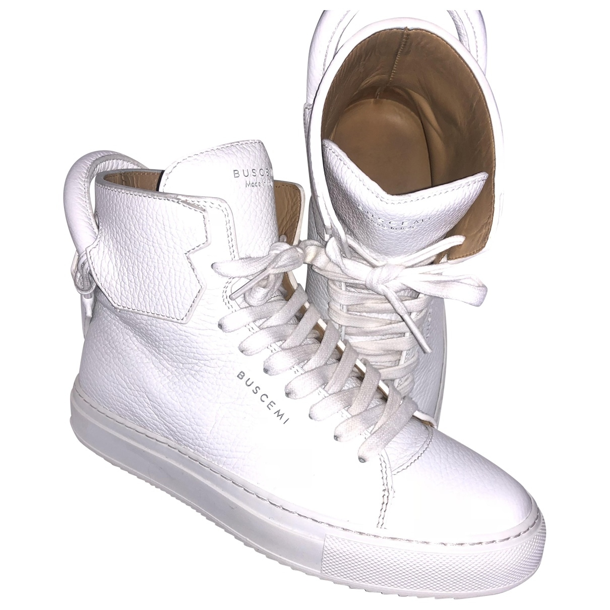 Buscemi \N White Leather Trainers for Women 36 EU