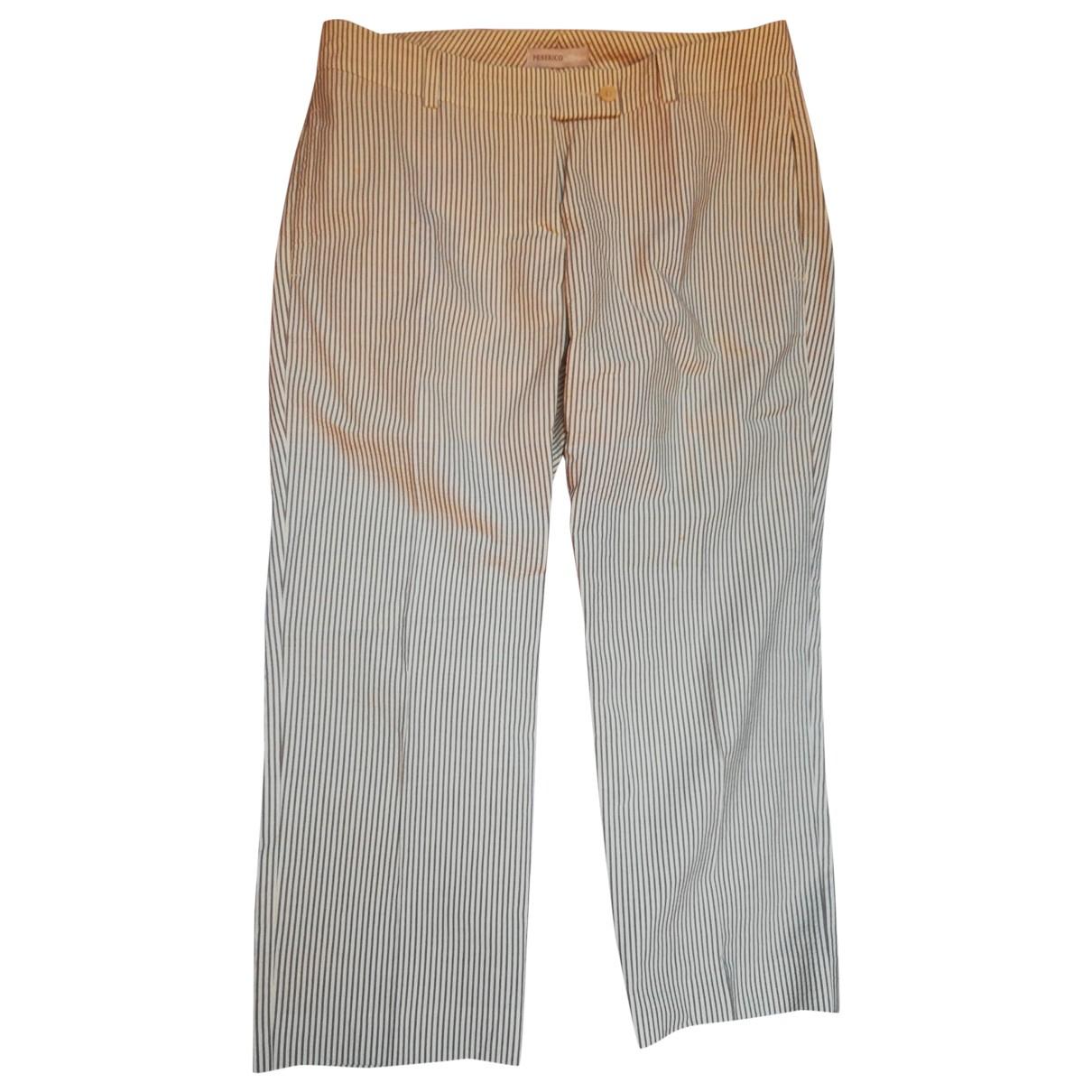 Pantalon en Algodon Crudo Peserico