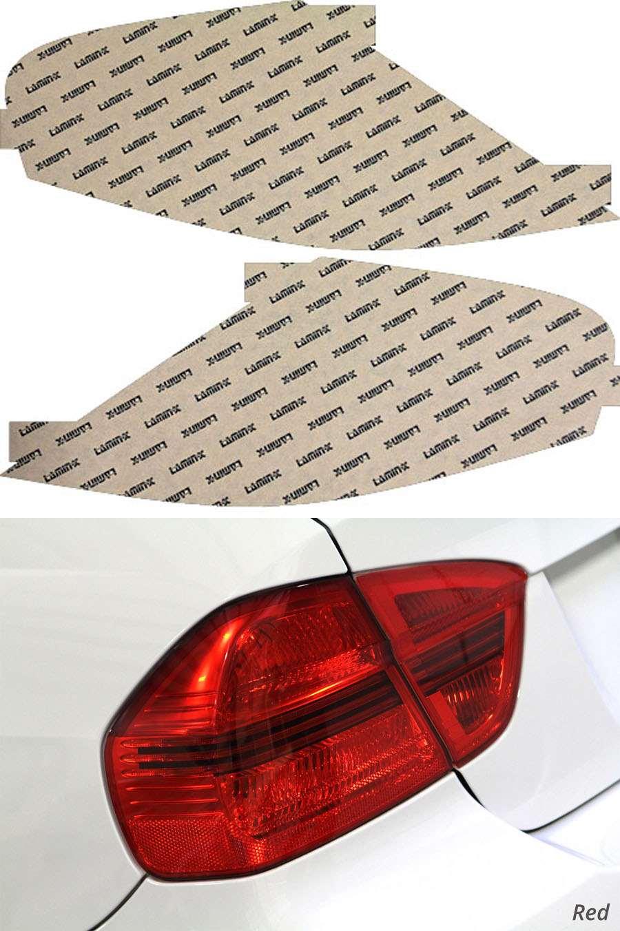 BMW M6 06-10 Red Tail Light Covers Lamin-X B216-1R