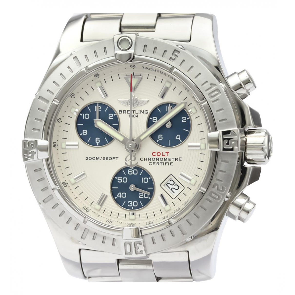 Breitling Colt  Silver Steel watch for Men N