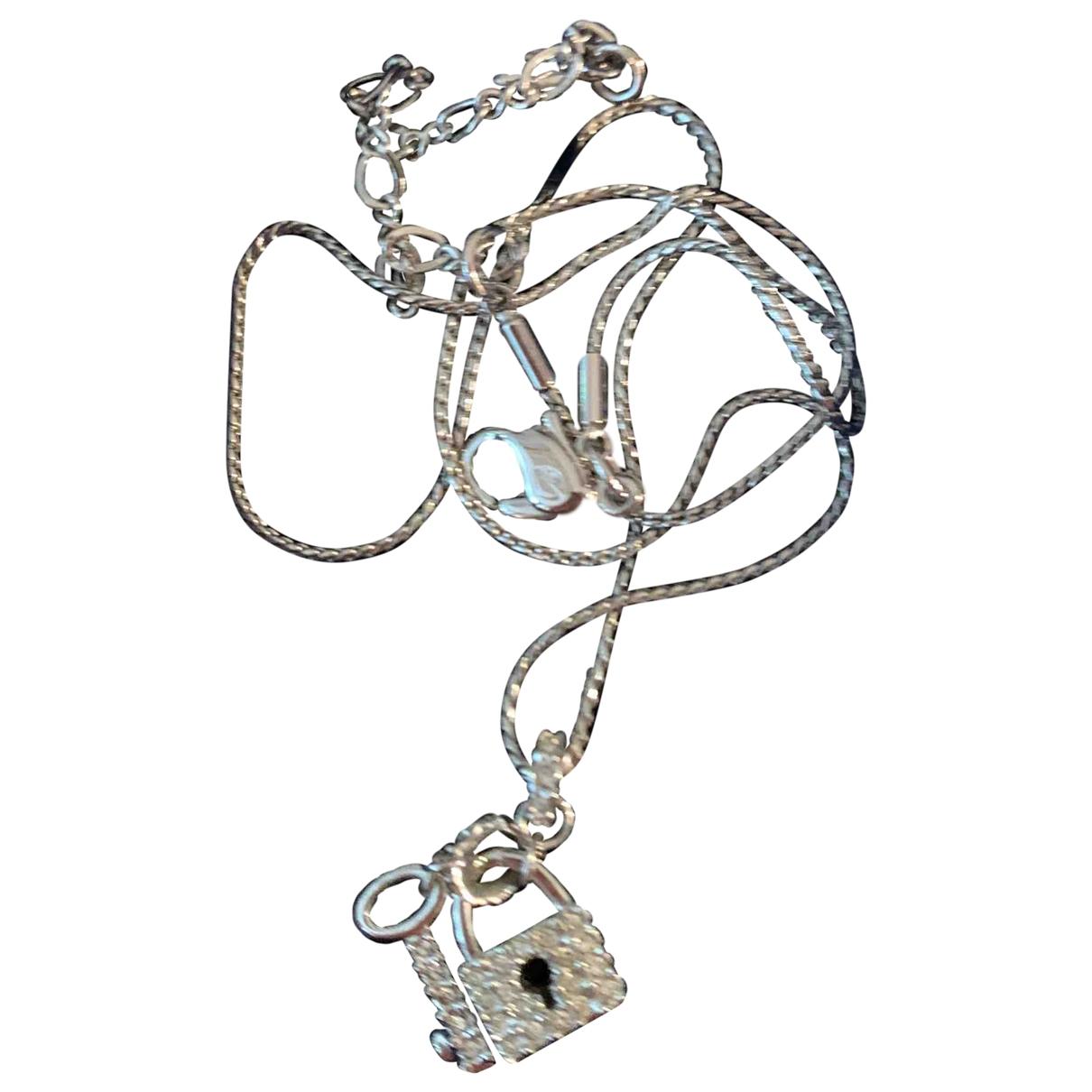Swarovski - Collier   pour femme en plaque argent - argente