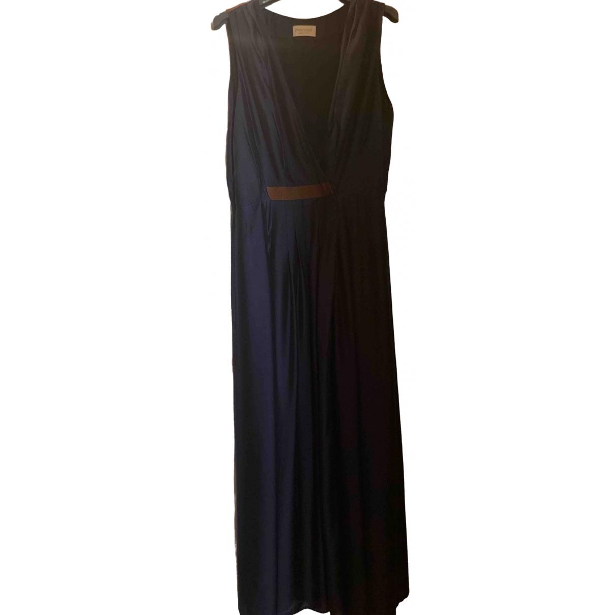 Momoni \N Kleid in  Blau Baumwolle
