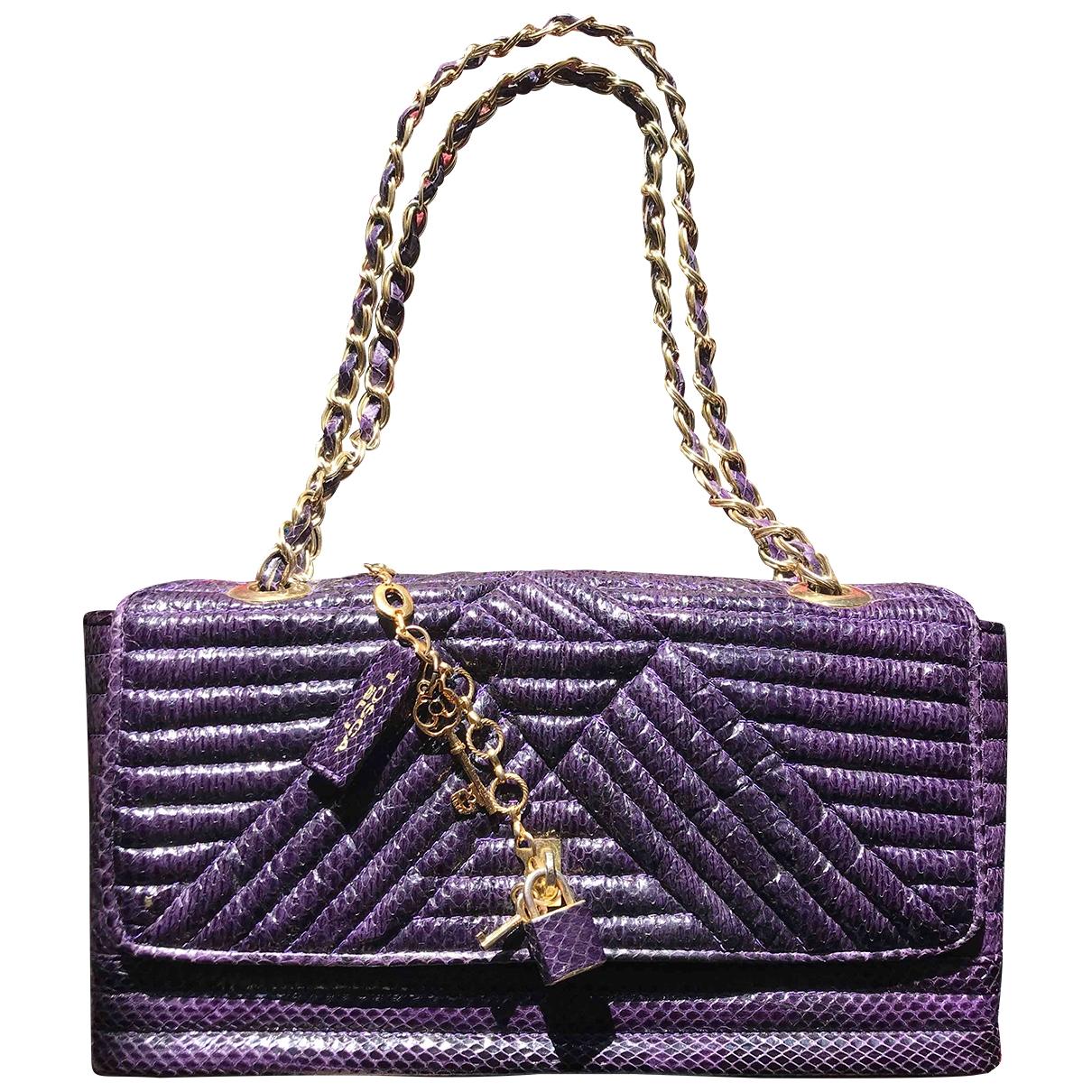 Tosca Blu \N Purple Water snake handbag for Women \N