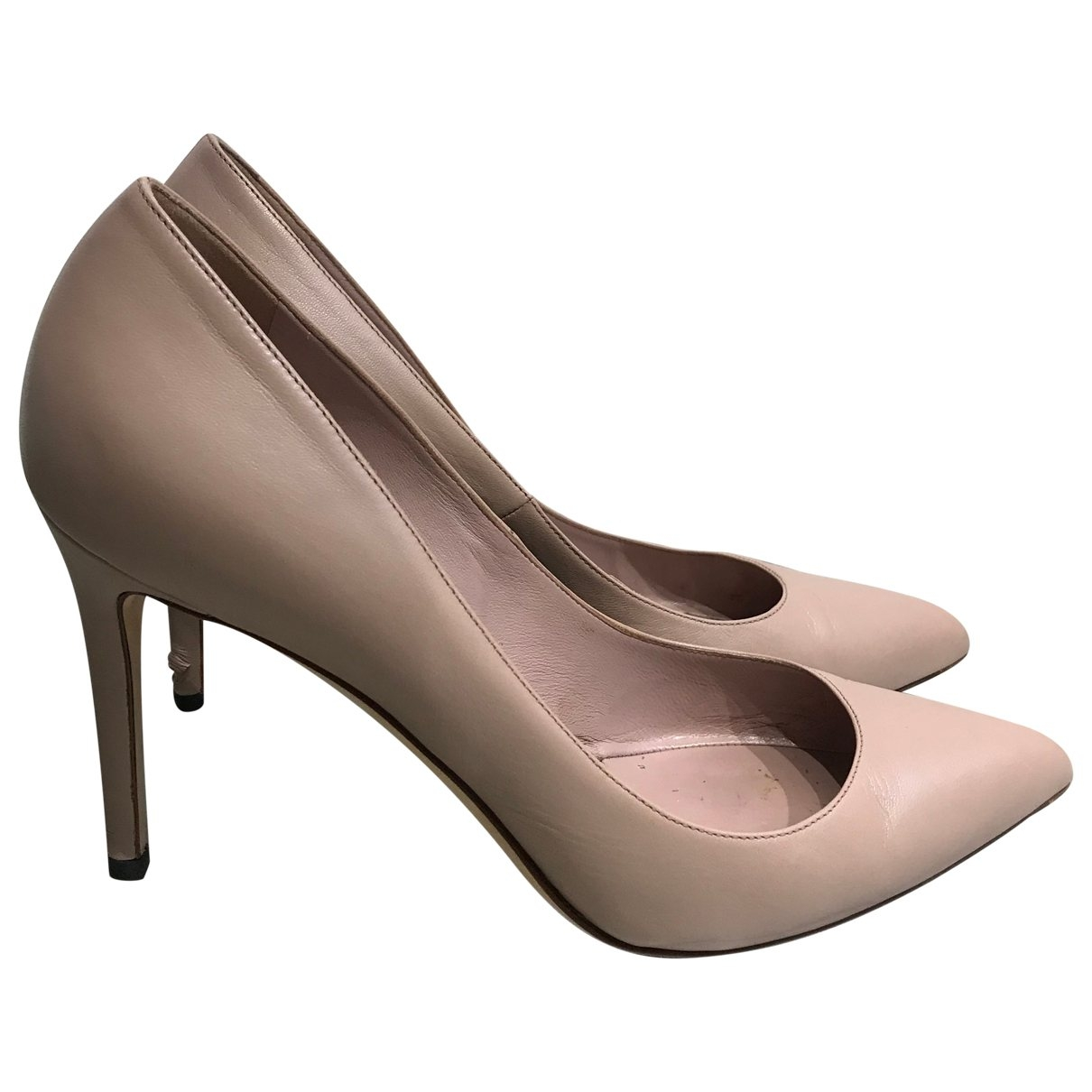 Gucci \N Pink Leather Heels for Women 39 EU