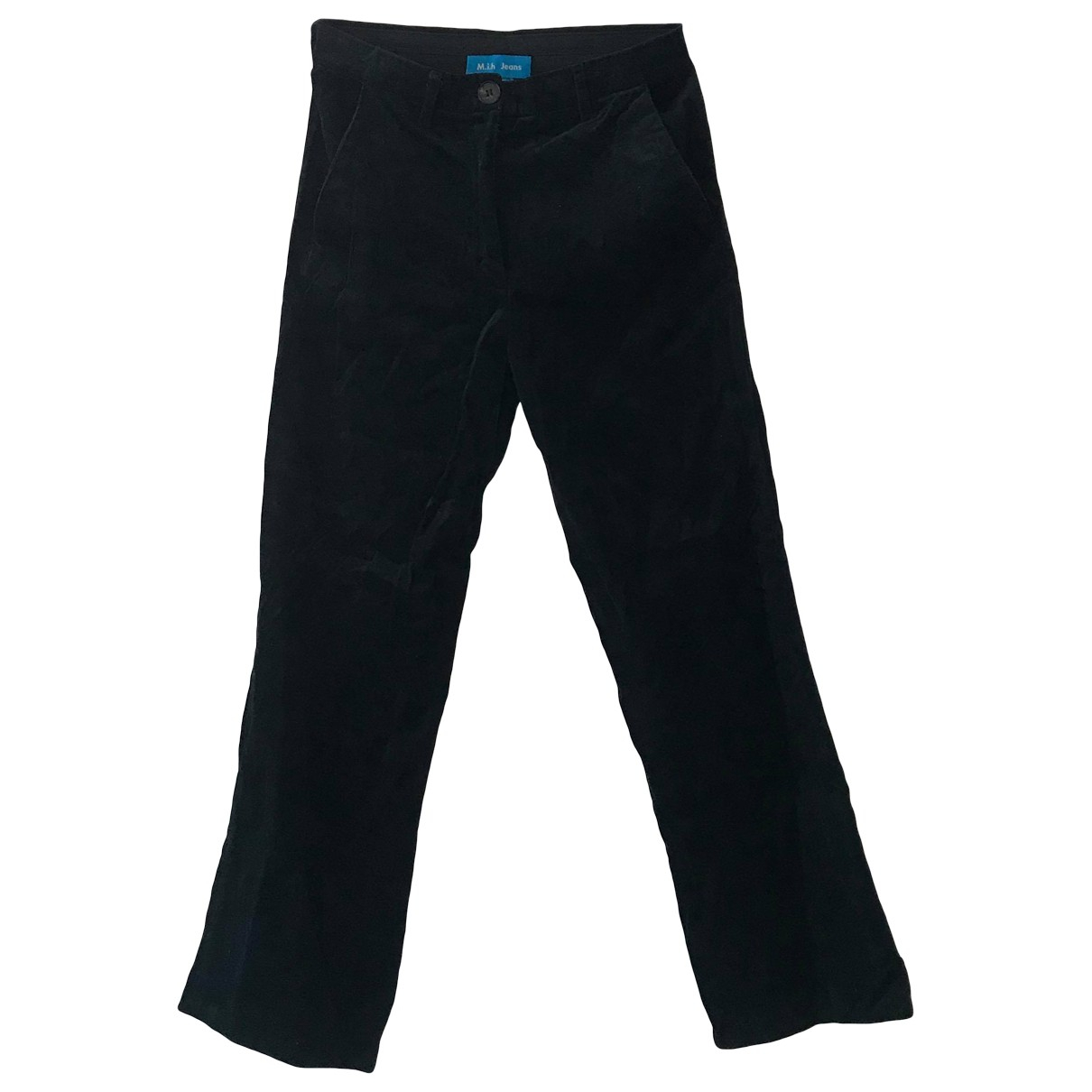 Mih Jeans \N Blue Velvet Trousers for Women XS International