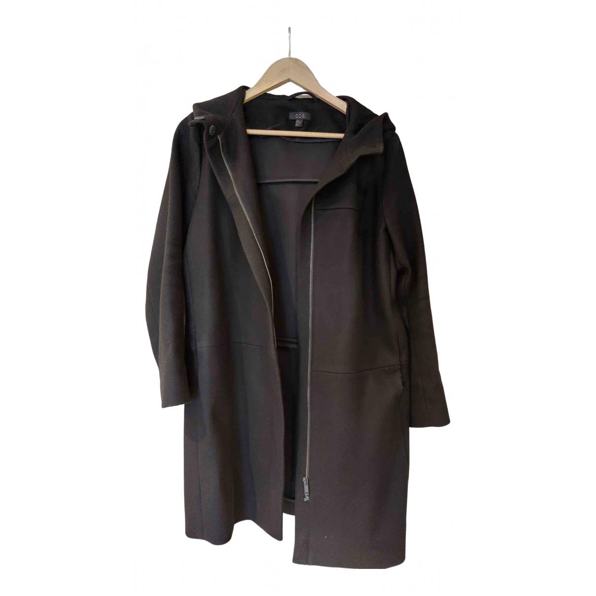 Cos \N Black Wool coat for Women 38 FR
