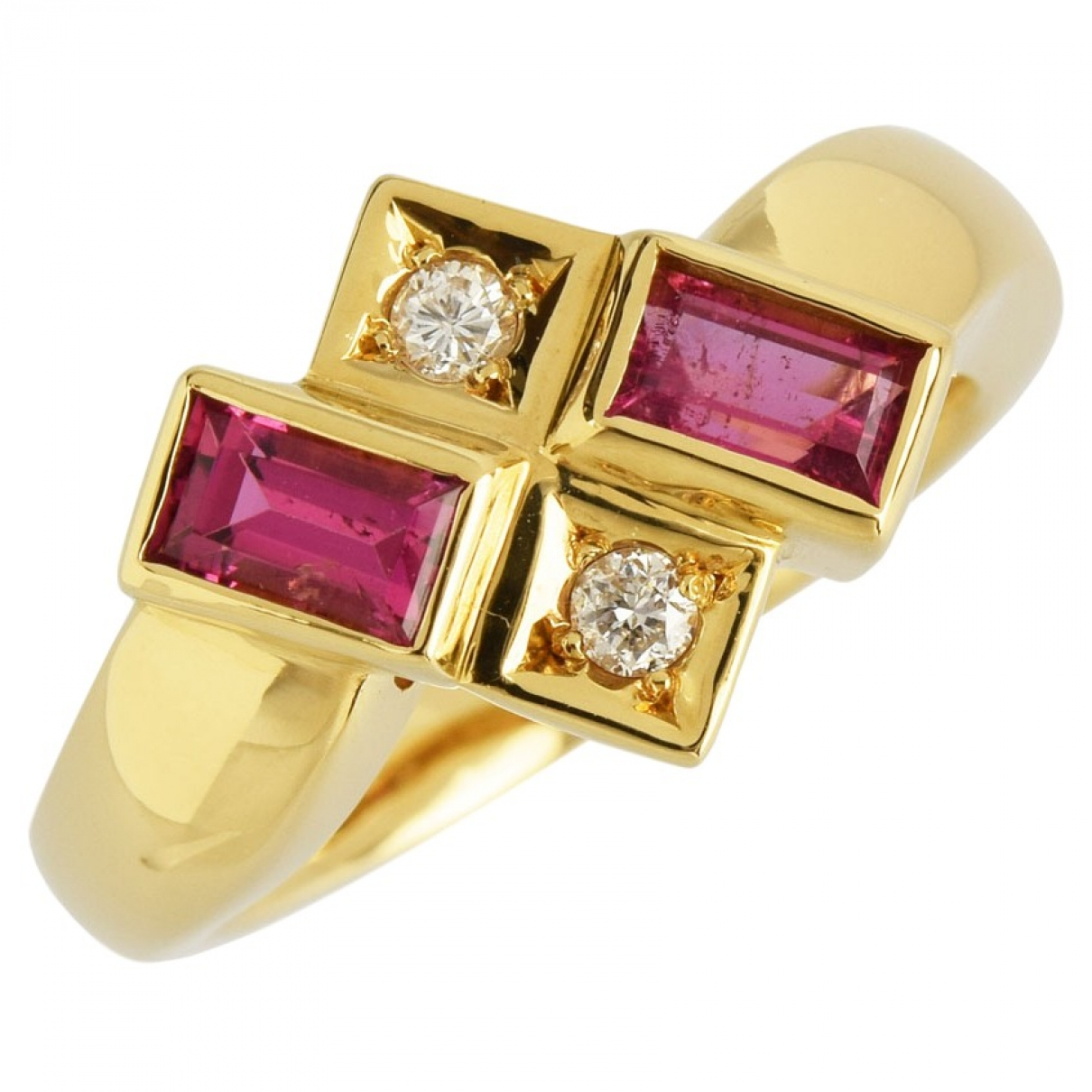 Non Signe / Unsigned \N Ring in  Rosa Gelbgold