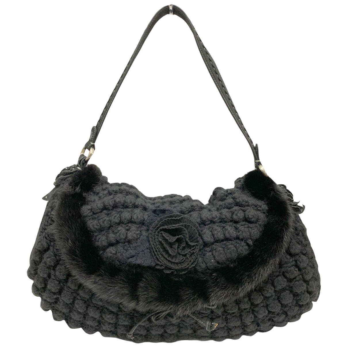 Ermanno Scervino N Black Wool handbag for Women N