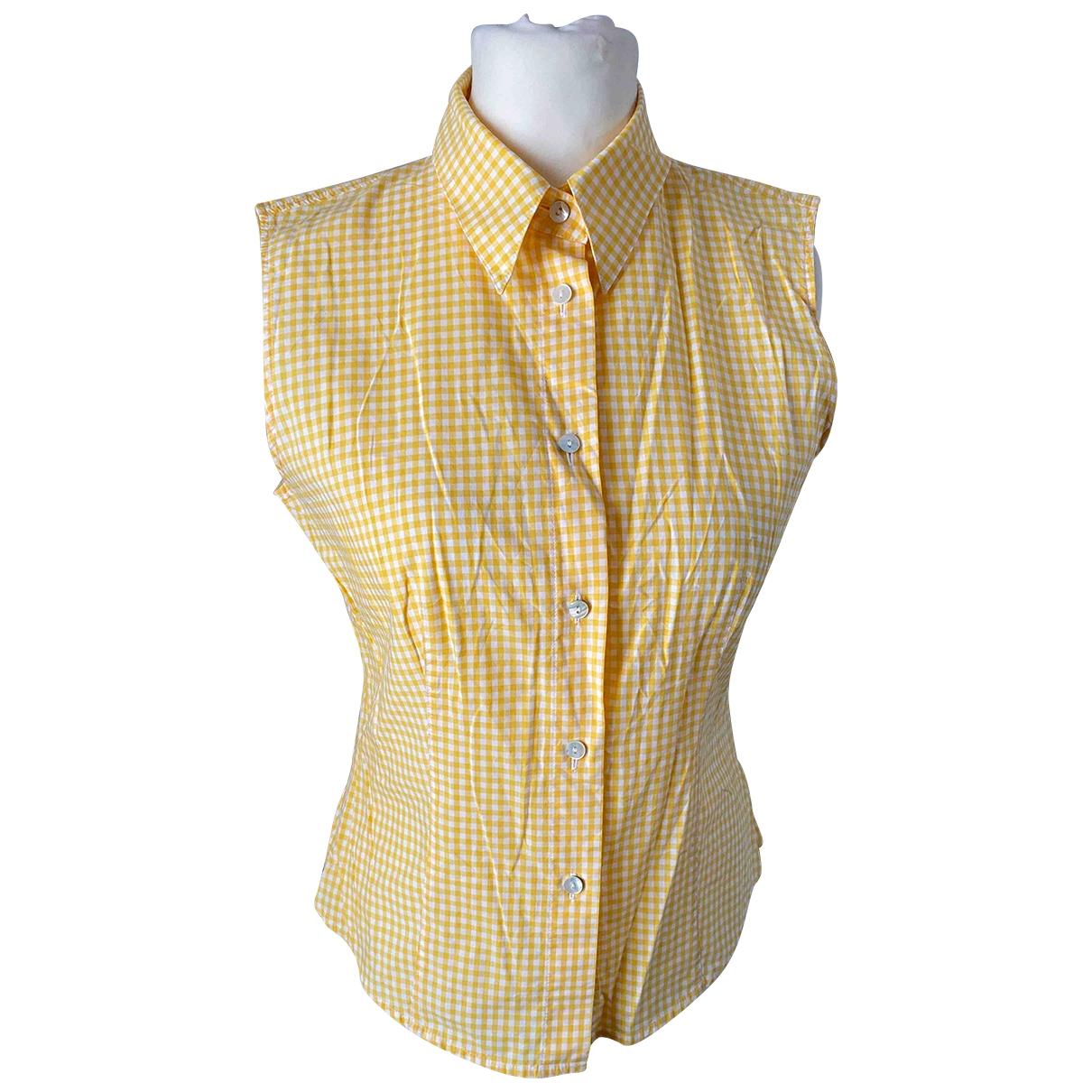 Colombo - Top   pour femme en coton - jaune