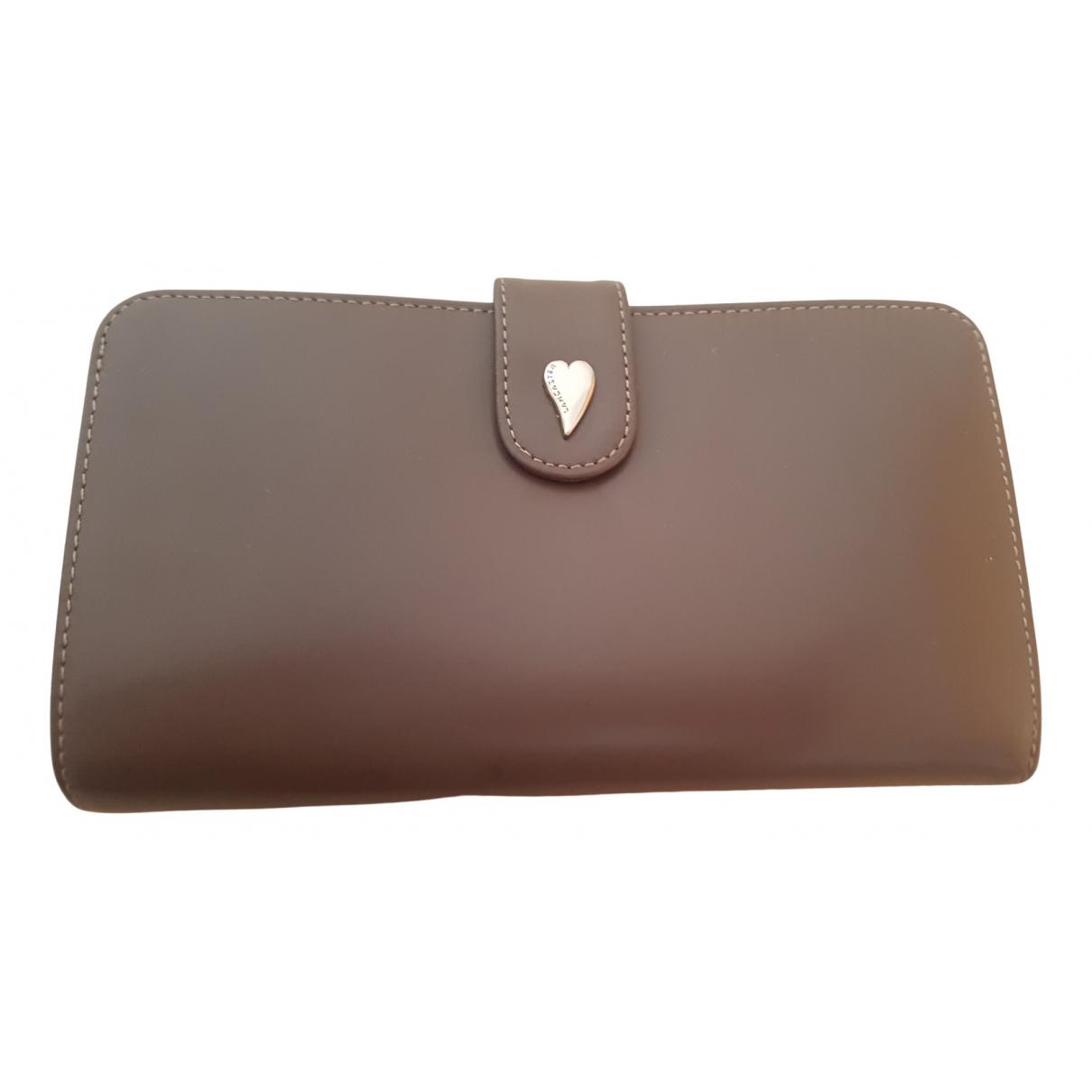 Lancaster - Portefeuille   pour femme en cuir - marron