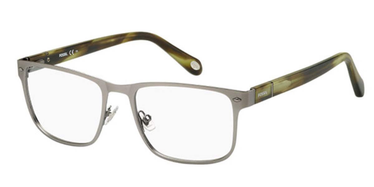 Fossil FOS 6088 0D5 Men's Glasses Grey Size 54 - Free Lenses - HSA/FSA Insurance - Blue Light Block Available