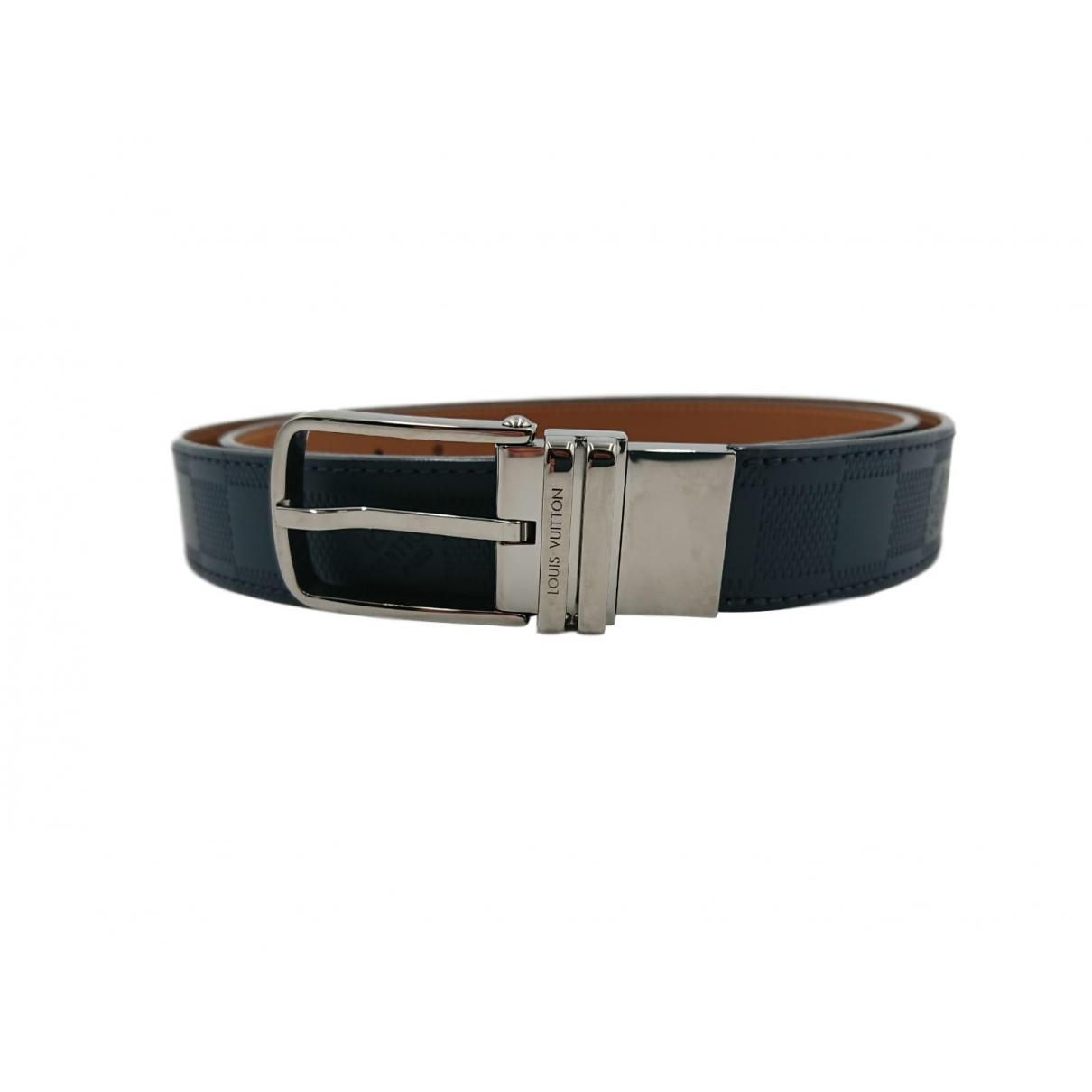 Louis Vuitton \N Navy Leather belt for Men S international