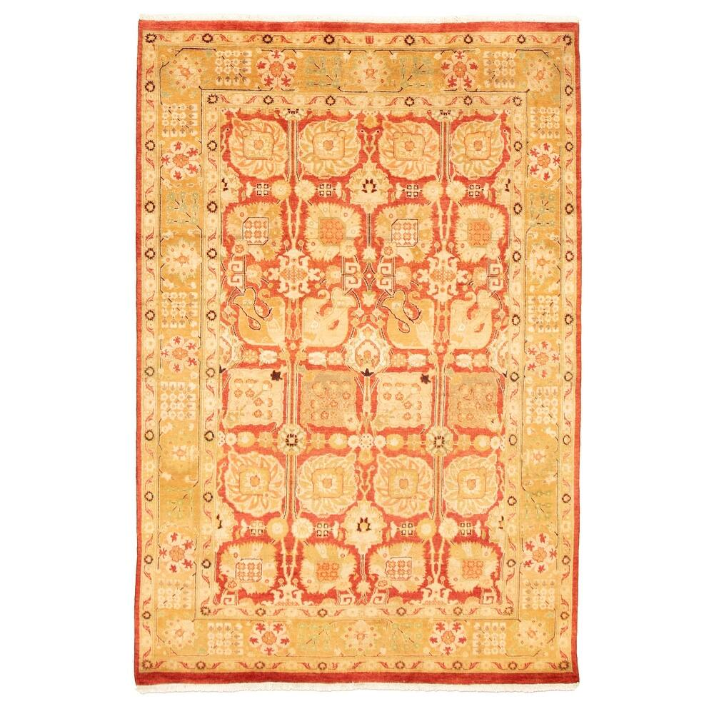 ECARPETGALLERY  Hand-knotted Peshawar Finest Ottoman Red Wool Rug - 50 x 75 (50 x 75 - Red)