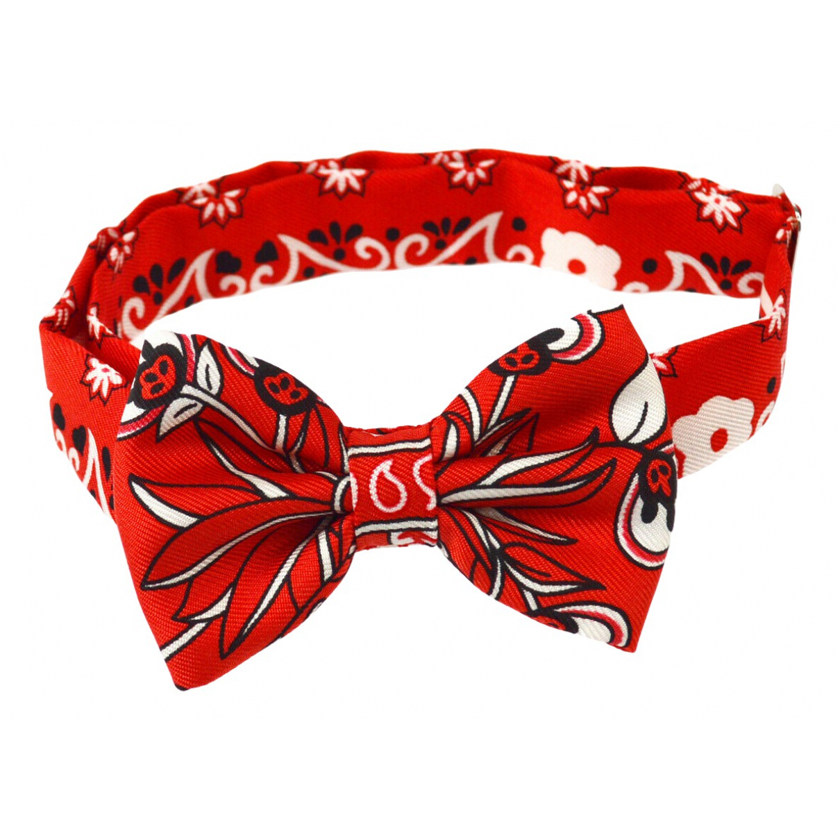 Hermes - Cravates Noeud Papillon pour homme en soie - rouge