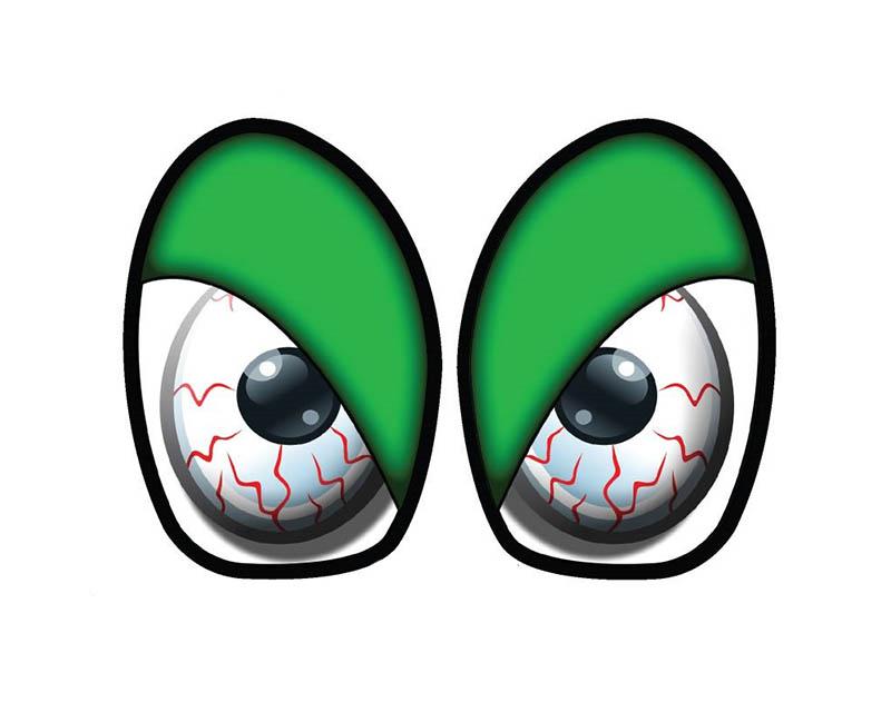 M7 Speed 92-9011 M7 R53 Eye Decal Set Bloodshot Green Mini Cooper R50 02-06
