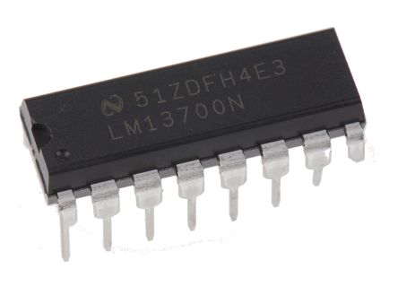 Texas Instruments LM13700N/NOPB , Transconductance, Op Amp, 2MHz, 3 → 28 V, 16-Pin MDIP
